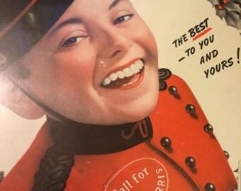 1940 Philip Morris Christmas 1940 Cigarette ad.
