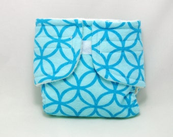 Baby Doll Diaper Blue Pattern - Size Large