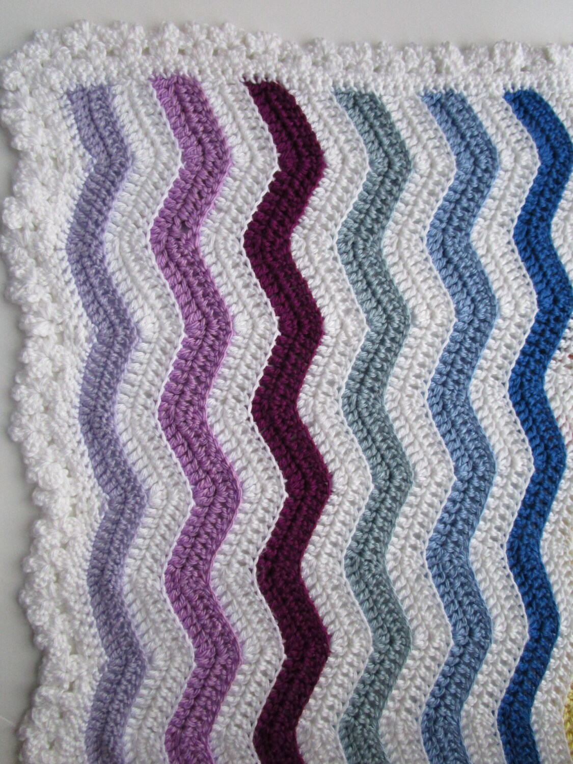 Crochet Patterns Wave Afghan : Easy Crochet Afghan Pattern Rainbow Ripple by KathieSewHappy