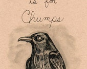 Looking at Stuff is for Chumps: Barry the Blind Crow