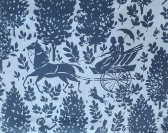 Amy Butler Quilting Fabric Cameo Folly Zinc Blue Romantic PWAB092.ZINKX
