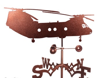Hand Made Helicopter Sea Knight CH-46 Weathervane New