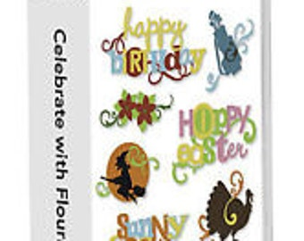 Celebrate with Flourish Cricut Lite Cartridge
