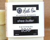 Shea Butter Soap | Handmade | 100% Organic | Unscented & Fragrance-Free