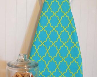 NEW! - Ironing Board Cover - Michael Miller Coco Cabana Moroccan Lattice Aqua