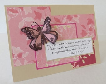 My Prayer Christian Praying For You Card With Psalm Scripture