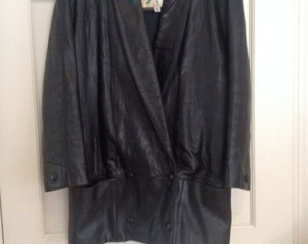 80s Avant Garde Leather Jacket