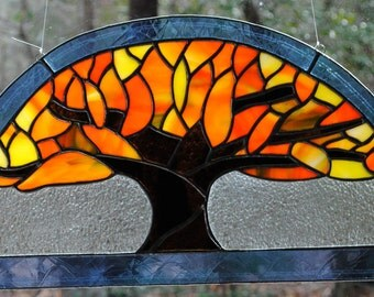 """Stained Glass Tree, """"Father's Tree."""""""