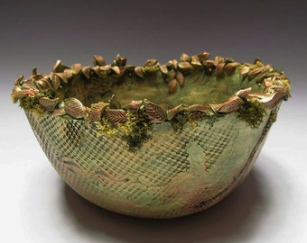 Forest Floor Free Form Clay Bowl
