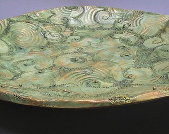 Decorative Hand Carved Clay Plate