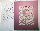 papercut floral any occasion card