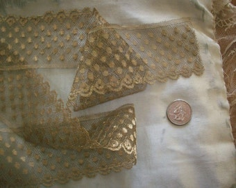 1 yd.  of antique gold french fine metal lace