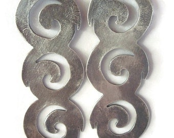 Spiral Stack Sterling Silver Earrings