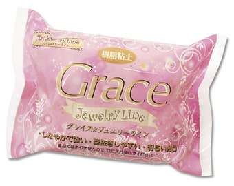 Nisshin Grace Resin Clay Jewelry Line 200g from Japan - For Jewelry and Accessories
