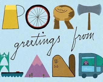 Greetings from Portland - postcard