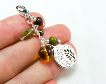 Tree of Life  Pendant Charm. Beaded Necklace Charm. Elegant Necklace Charm.NKL003