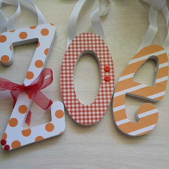 3 wooden letter set baby name wood letters by dwellingonline for 3 inch wooden letters