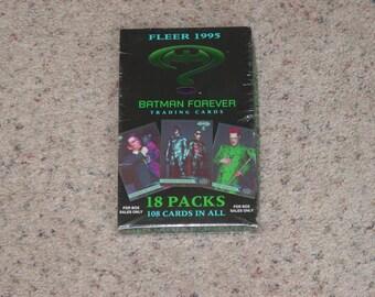 """Fleer Sealed Box """" Batman Forever """" 18 Packs/108 Trading Cards In All"""