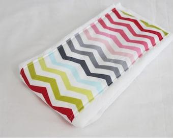Colorful Chevron Baby Burp Cloth