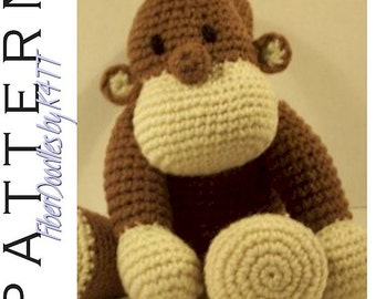 INSTANT DOWNLOAD : KISS Series - Monkey Crochet Pattern