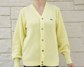 Vintage 60s Lacoste Izod Slouchy Mens Boyfriend sweater
