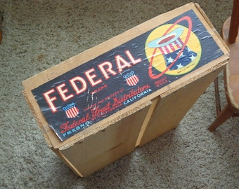 Vintage Wooden Fruit Shipping Box