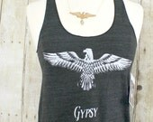Gypsy Heart, Womens Racerback Tank Top, Gift for Her, Summer Tank, Under 20, quote tank, free spirit,