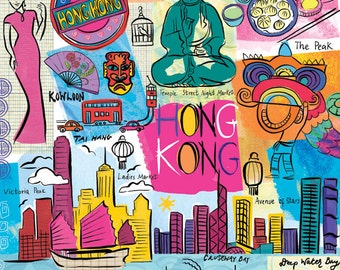 Whimsical Wall Art san francisco illustration modern whimsical wall art print