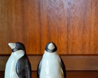 vintage stoneware otagiri penguin figurines