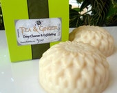 TEA and GINGER Soap - deep cleansing, exfoliating - handmade by Bonny Bubbles