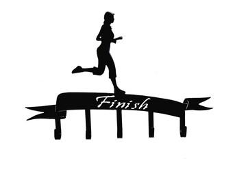 Female Runner Medal Holder