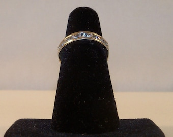 Vintage Sterling Silver 925 Ring with Clear CZ