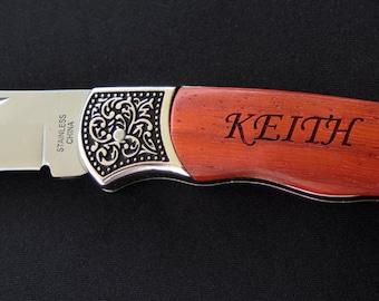 Customizable Pocket Knife, Engraved Pocket Knife, Groomsman Gift, Gift For Men, Personalized Gift For Men