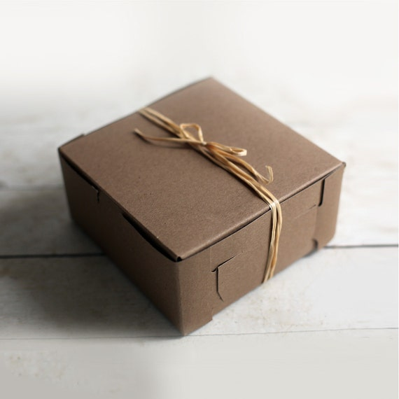 3 inch favor boxes brown : Inch kraft cupcake or gift boxes