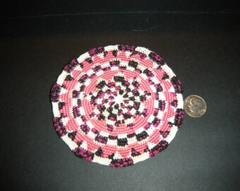 Beautifully handmade OOAK round rug