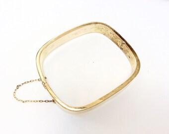 REDUCED Sterling silver hinged bangle bracelet  925 silver geometric bangle beautiful