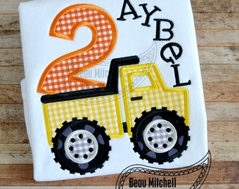 2 DUMP TRUCK APPLIQUE