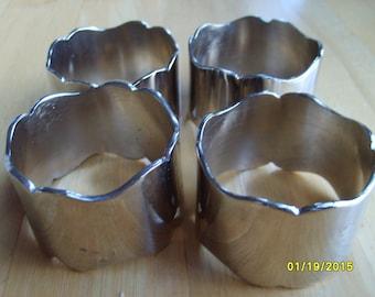 Silver Napkin Rings (set of 4), Simple Silver Napkin Rings, Napkin Rings