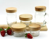 Wood Maple Mason Jar Lids, Regular and Wide Mouth Wooden lids, Wood Jar Tops, Wood Lids For Ball Mason Jars