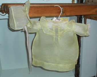 Girls Dresses Baby Dress and Bonnet Set Vintage Baby Clothes Antique Baby Clothes
