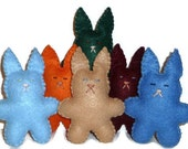 Small plush bunnies woodland colors gift for a child forest animals nursery decor toys