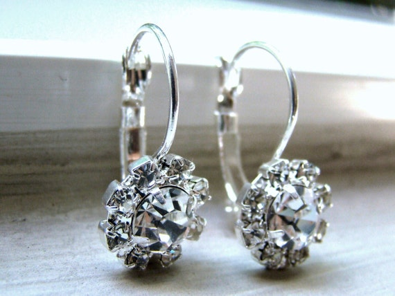 Sale Rhinestone Silver Earrings ZIMA