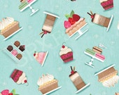 Sugary Sweet by Jessica Flick for SPX Fabrics - Full or Half Yard Tossed Desserts - Cupcakes, Pies, Cakes, Parfaits