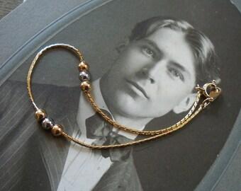 gold bracelet / vintage gold / vintage bracelet / DAINTY BALL BRACELET