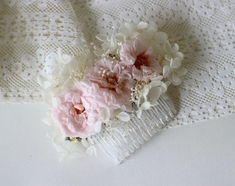 Blush Rose Hair Comb