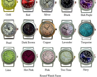 Round Watch Faces for Interchangeable Bracelet Watch