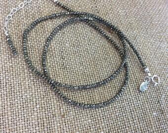Pyrite 2mm bead strand