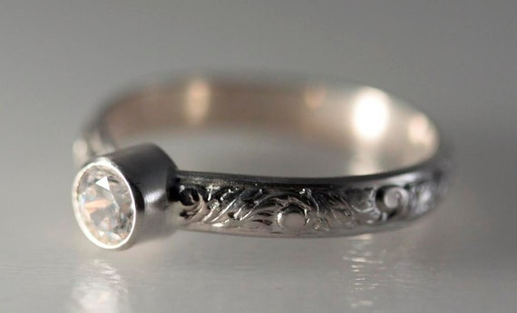 Sterling Silver Bezel Set Cubic Zirconia Ring