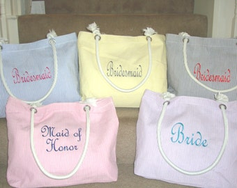 5 Wedding Duty, Bridesmaid Gift Tote Bags **SALE** Personalized Tote, Bridesmaids Gift, Monogrammed Tote, Maid of Honor Gift, Brides Gift