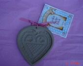 Brown Bag Cookie Art Heart Shape Pottery Mold - Hill Design Inc. 1991- Sweet Like New